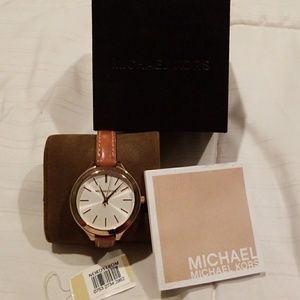 Michael Kors Runway slim strap watch